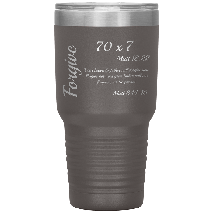 Forgive - Tumbler 30oz (Various Colors) - Love the Lord Inc