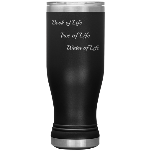 Tree, Book & Water of Life BOHO Tumbler 20oz (Various Colors) - Love the Lord Inc