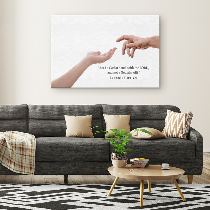 God is not far off - Canvas Print - Love the Lord Inc