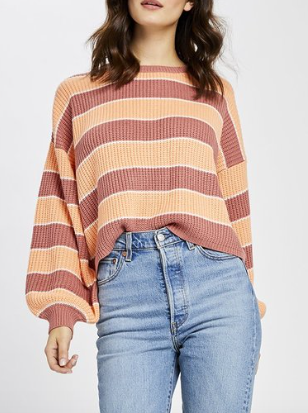 Spring stripe knit