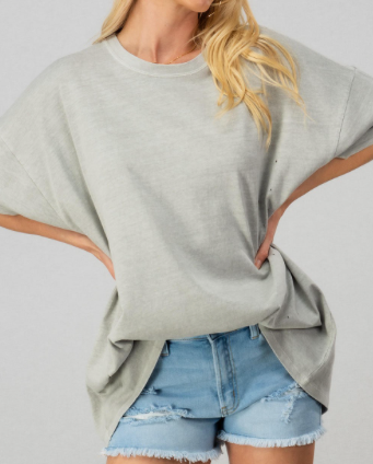 Dani oversized tee in grey