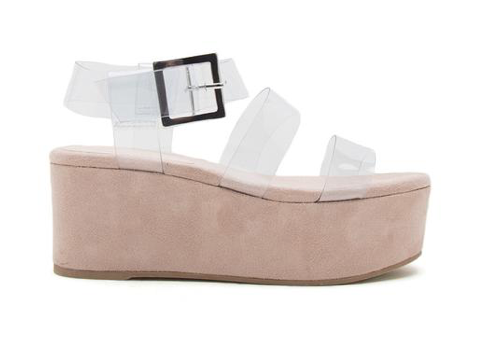 Siouxsie clear flatform sandals