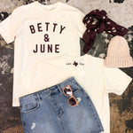 "Betty&June ""old skool gym tee"""