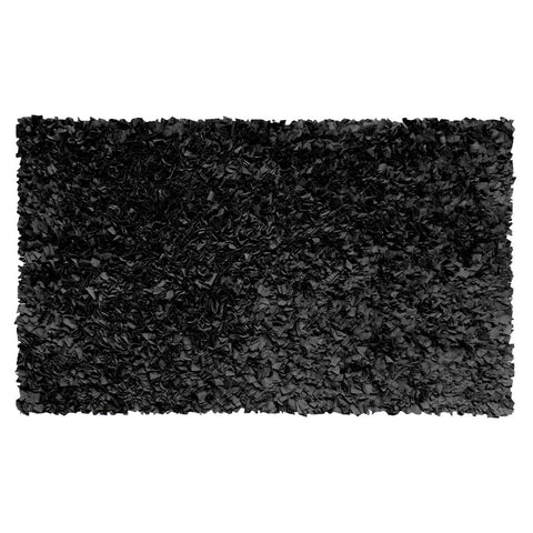 Shaggy Raggy Black Rug