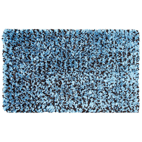 Shaggy Raggy Blue-Brown Rug
