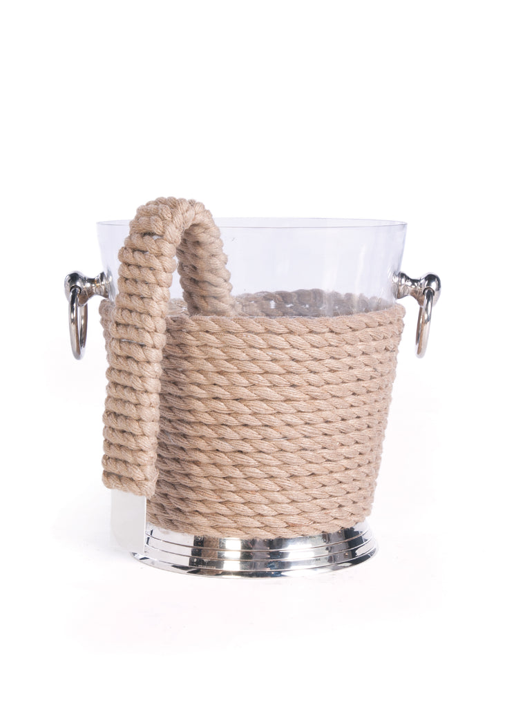 Coastal Ice Bucket with Tongs