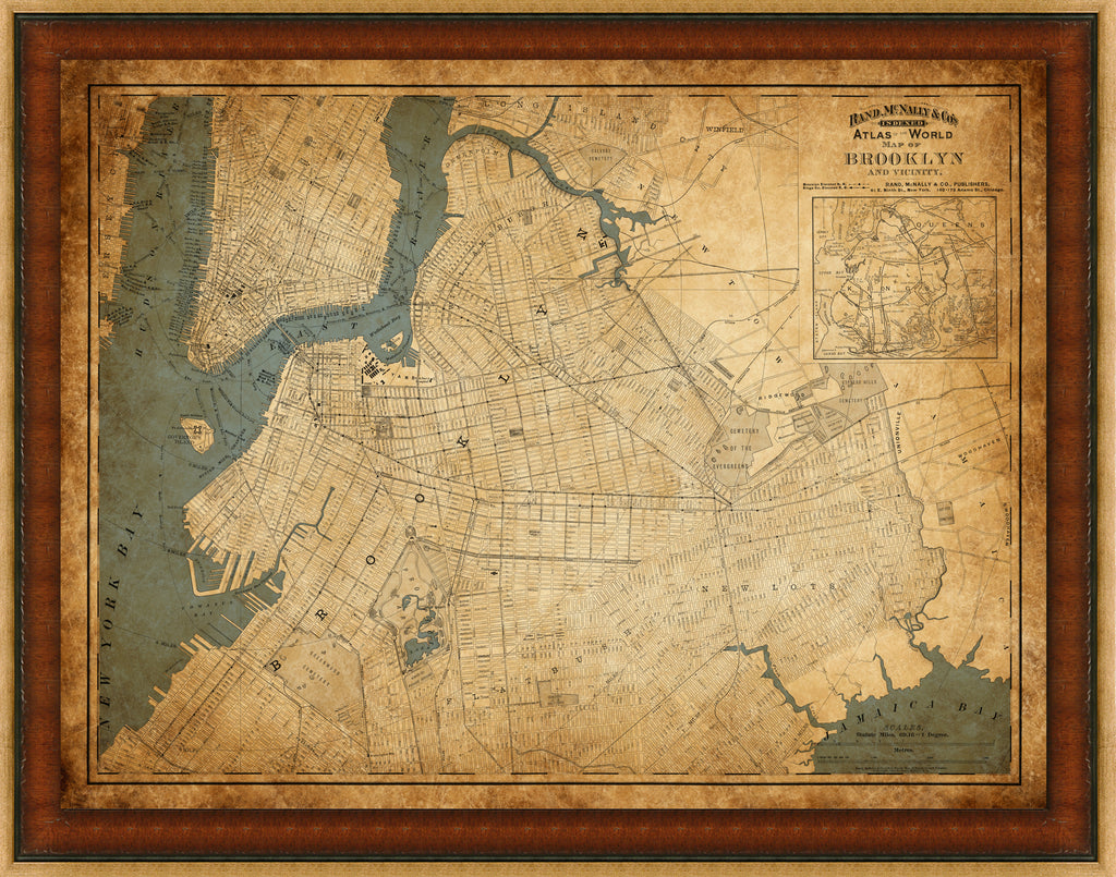 Brooklyn Vintage Map