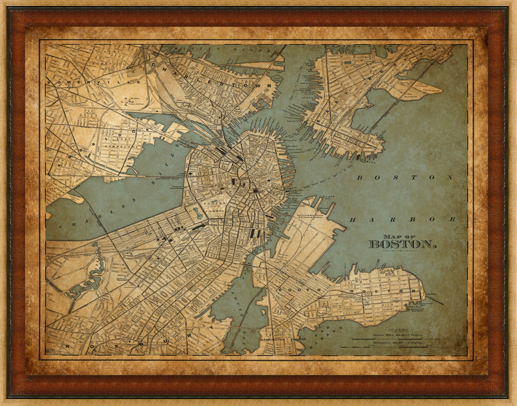 Boston Vintage Map