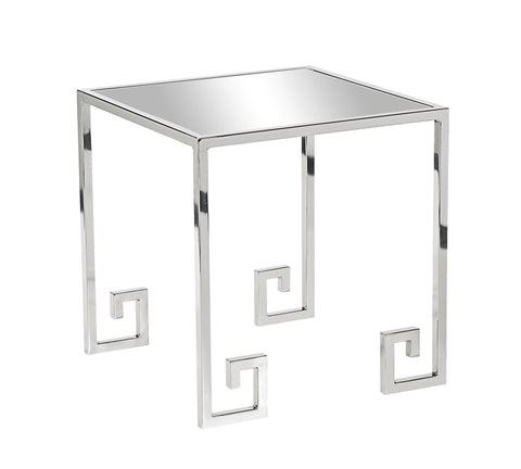 Shiloh Side Table Polished Nickel