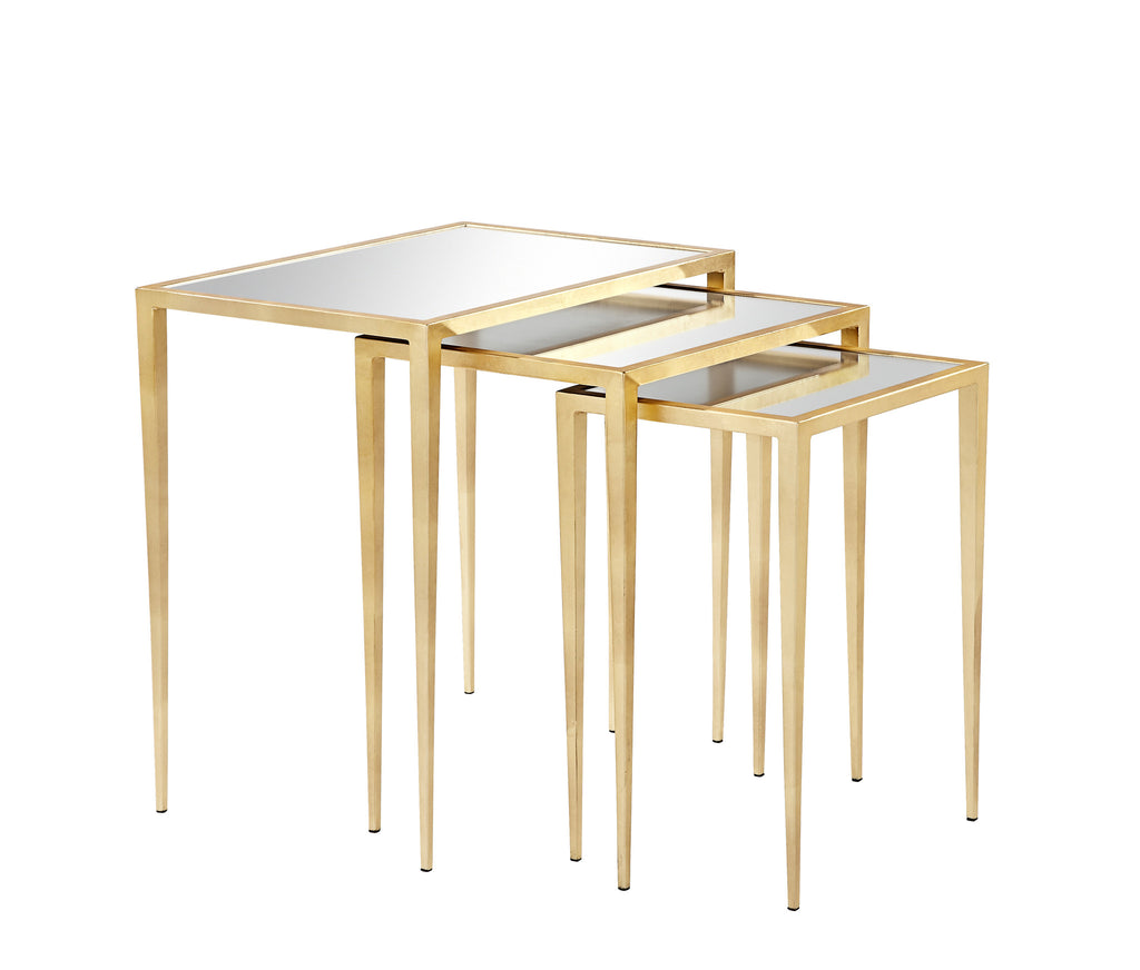 Addison Nesting Tables Gold Leaf