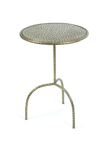 Hammered Side Table