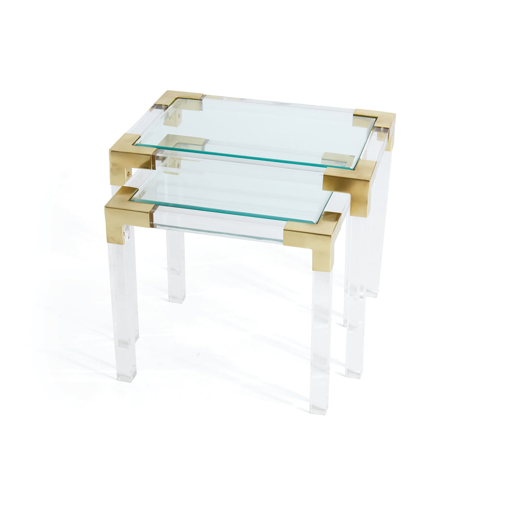 Set of Two Johanson Acrylic Tables