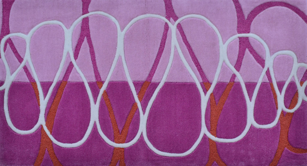 Squiggle Stripe  Pink