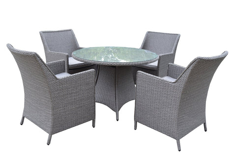 Baltic Five Piece Outdoor Dining Set with Cushions