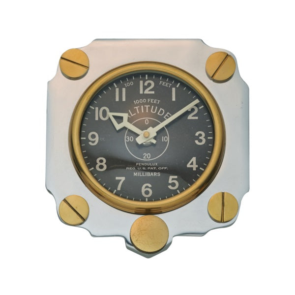 Altimeter Wall Clock Aluminum