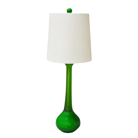 "Green Malibu Table Lamp 21""H"