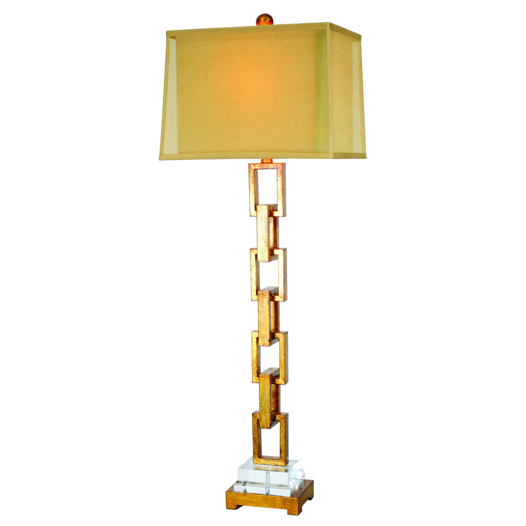 Golden Chain Link Buffet Lamp