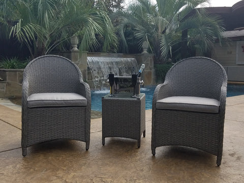 Thorndale Three Piece Outdoor Conversation Set With Cushions