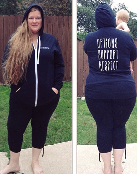 Birth Without Fear Options Support Respect Hoodie