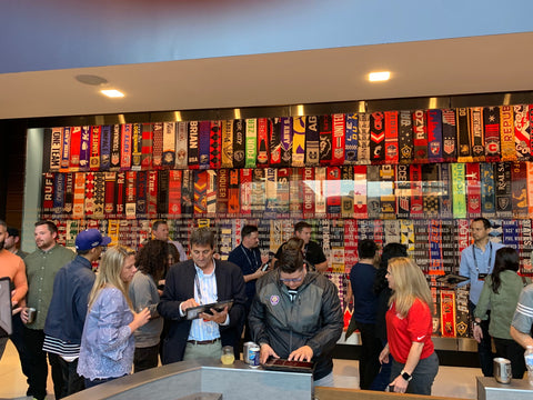 Soccer Scarf Wall by Ruffneck Scarves