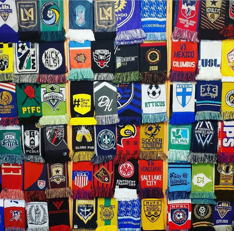 soccer scarf display