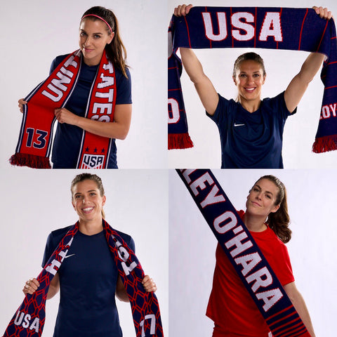 big sale 9d112 1d91e USWNT scarves at Women's World Cup 2019   Ruffneck Scarves