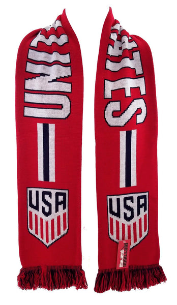 US SOCCER SCARF - Red One Nation One Team - Ruffneck Scarves - 2
