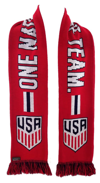 US SOCCER SCARF - Red One Nation One Team - Ruffneck Scarves - 3