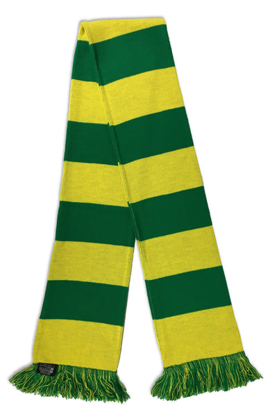 GREEN and YELLOW BAR SCARF