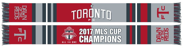 TORONTO FC SCARF - 2017 MLS Cup Champions Bars (HD Woven)