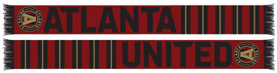 Atlanta United stripes scarf