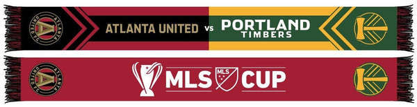 2018 MLS CUP SCARF - Atlanta United vs Portland Timbers (HD Woven)