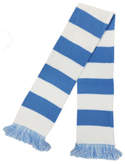 SKY BLUE and WHITE BAR SCARF