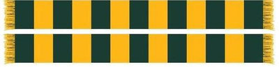 GREEN and GOLD BAR SCARF