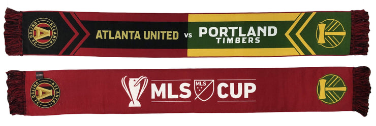 ATLANTA UNITED vs PORTLAND TIMBERS 2018 MLS CUP SCARF (HD Woven)