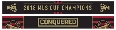 "ATLANTA UNITED SCARF - ""Conquered"" - 2018 MLS Cup Champs (HD Woven)"