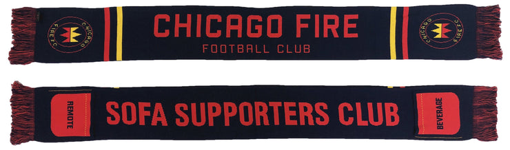 Chicago Fire sofa supporters club scarf