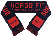 Chicago Fire sofa supporters club scarf folded
