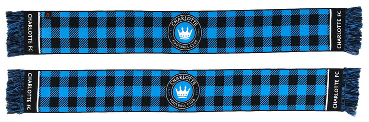 Charlotte FC Scarf Flannel pattern both sides