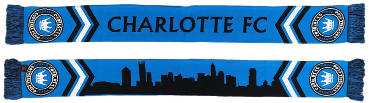 Charlotte FC scarf Skyline design both sides