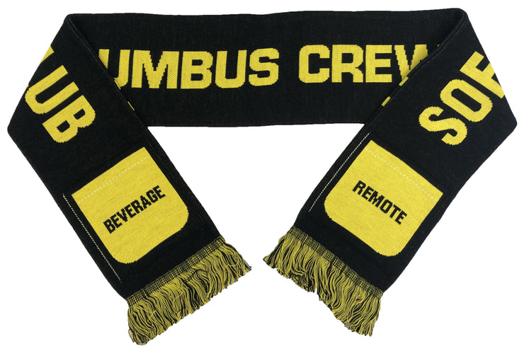 Columbus Crew Sofa supporter scarf folded