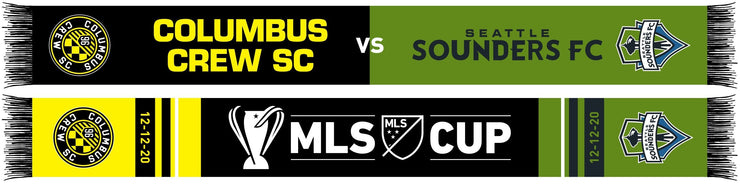 2020 MLS Cup Matchup Scarf - Columbus Crew vs Seattle Sounders (**PRE-ORDER - HD Woven**)