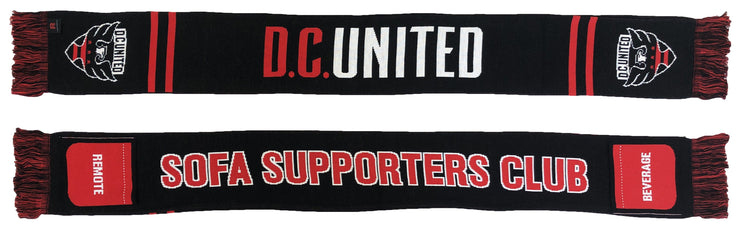 DC United sofa supporter scarf with pockets