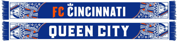 FC CINCINNATI SCARF - Queen City (HD Woven) Ruffneck Exclusive