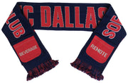 FC Dallas sofa supporters scarf folded