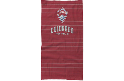Colorado Rapids neck gaiter with pinstripes