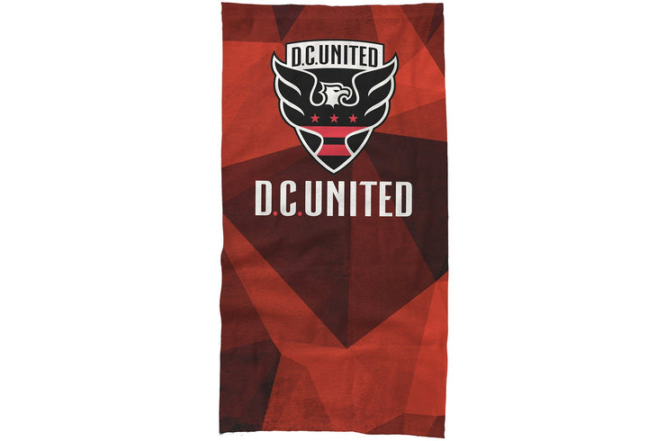 DC United neck gaiter polygons design