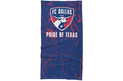 FC Dallas neck gaiter Pride of Texas design.