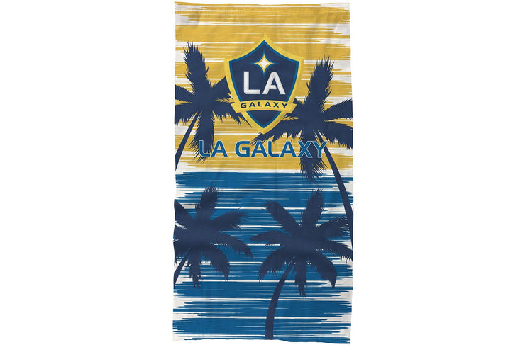 LA Galaxy Neck Gaiter with palm trees
