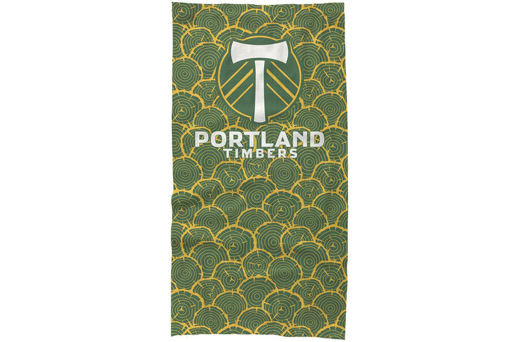 Portland Timbers Neck Gaiter tree rings design